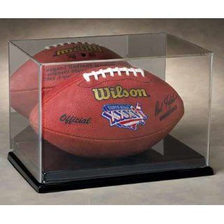 Full Size Fooball Display Case wih a Mirror Back and