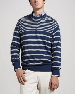 Stefano Ricci Striped French Cuff Dress Shirt, Blue/White   Neiman