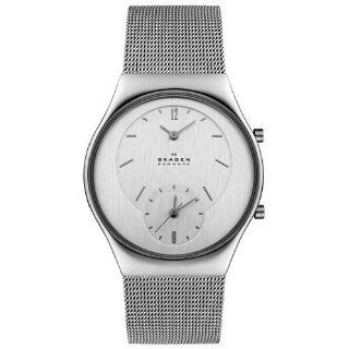 Skagen #733XLSS Unisex Dual Time Zone Functionality Mesh Band Watch
