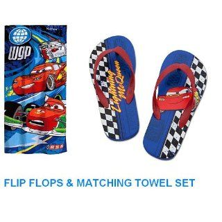 Disney Cars Lightning Mcqueen Flip Flops and Matching Cars