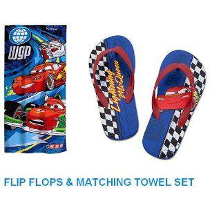 Disney Cars Lightning Mcqueen Flip Flops and Matching Cars