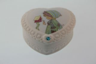 Precious Moments December Birthstone Heart Shaped Trinket Box