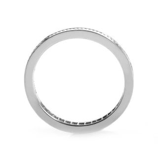 Hidalgo 18K White Gold Invisible Setting Diamond Band