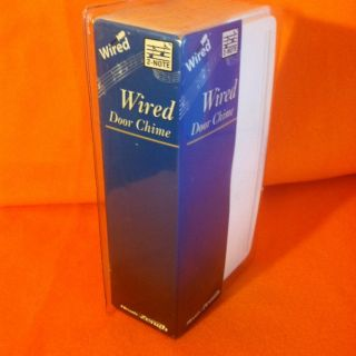 NEW SEALED HEATH ZENITH 2 NOTE MELODY WIRED DOOR CHIME, 1 NOTE REAR