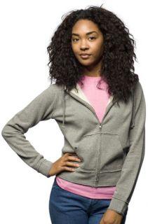 Independent Trading Co Ladies Juniors Full Zip Hooded Sweatshirt