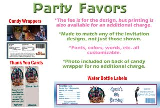 Hotel Transylvania Movie ~ Birthday Party Ticket Invitations, Supplies