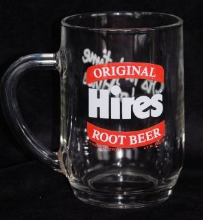 Original Hires Root Beer Glass Mug High Time for Hires 17oz Stein