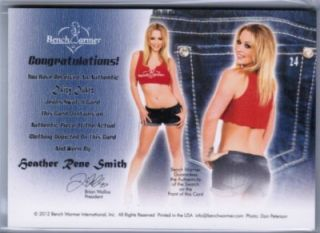 HEATHER RENE SMITH 2012 BENCHWARMER DAIZY DUKEZ #d 15/15 PINK FOIL