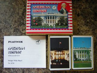 American History Playing Cards Piatnik Vienna