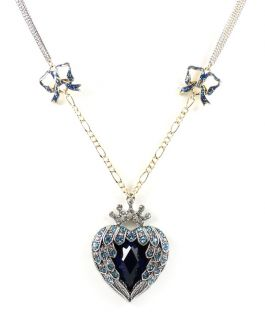 Betsey Johnson Jewelry HEAVENS TO BETSEY Heart Wing Necklace