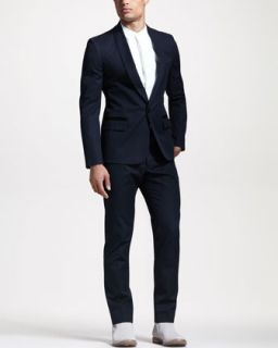 439N Maison Martin Margiela Satin Trim Cotton Evening Suit
