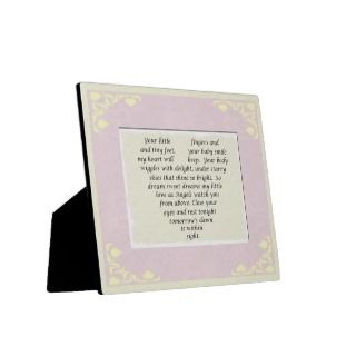 Baby Girl Gift Love Poem Plaque