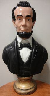 Colorful President Abraham Lincoln Bust Great Emancipator Martyr Civil