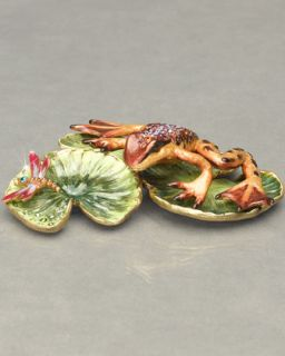 Jay Strongwater Frog on Lily Pads   Neiman Marcus