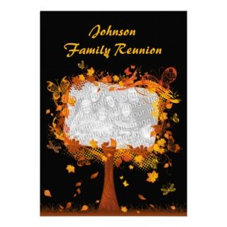Family Reunion Autumn Tree Photo Frame Magnets