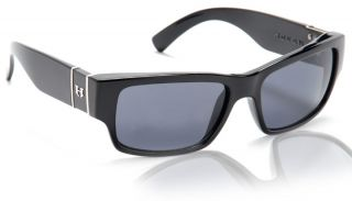 New Hoven Knucklehead Sunglasses Black Gloss Frame Grey Polarized Lens