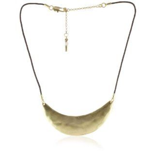 Kenneth Cole New York Gold Tone Half Moon Frontal Necklace