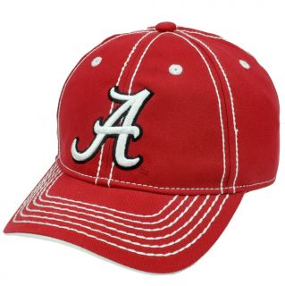 NCAA Alabama Crimson Tide Semi Constructed Hat Cap Platinum Clean Up
