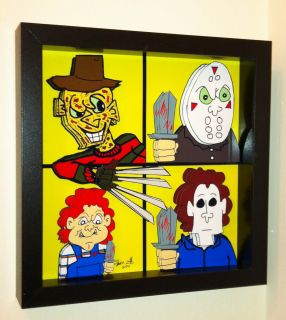 Horror Movie Art Freddy Krueger Chucky Doll Jason Voorhees Michael