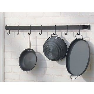 Pot Racks Black Wrought Iron, 29 long, 2 1/2 projection