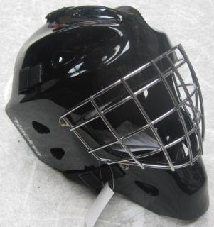 Hackva Hockey Goalie Goal Face Mask Helmet Medium Black Chrome Cage