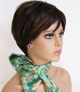 Synthetic wigs w/ highlights soft hair party girls women ladys short
