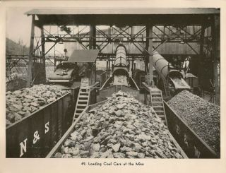 Loading Coal Cars at The Mine Old RR Train Picture