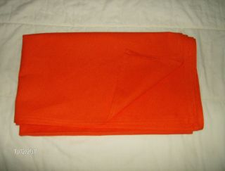 HORSE SADDLE TOWEL BRIGHT ORANGE DUCK GREAT FOR HUNTING SEASON ENGLISH