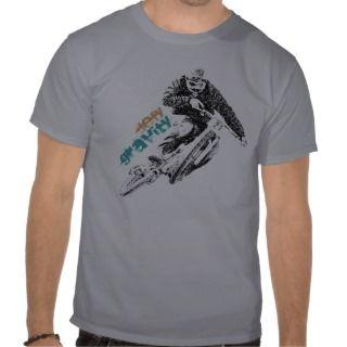 Downhill Addicted Cool Mountain Biking Design Tshirt