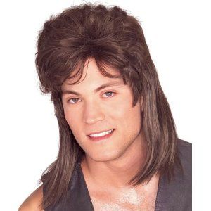 Mullet Hair Wig Halloween Costume Redneck Billy Ray Cyrus