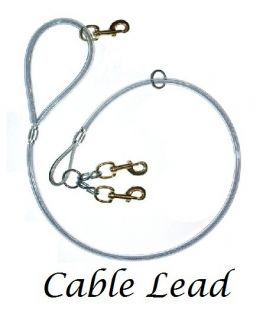 Hog Dog Hunting Heavy Duty CABLE LEAD 2 DOG 3 Snaps Hunting w/ Dogs