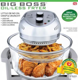 166 Emson Big Boss Oil Less Fryer Rapid Wave Turbo Convection Oven