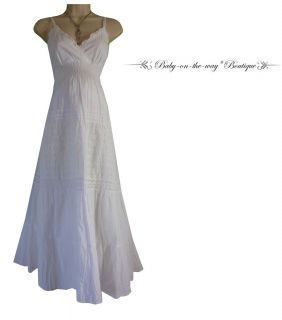 SMALL NEW Sexy Pretty Womens WHITE MATERNITY DRESS Summer BABY SHOWER