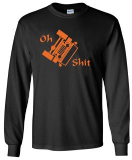 Jeep JK Wrangler Oh s T Rollover Design Long Sleeve Black Shirt Size s