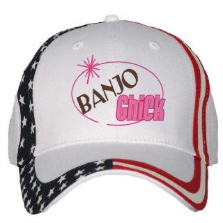 BANJO Chick USA Flag Hat / Baseball Cap Clothing