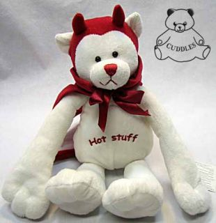 Devil Bear Door Hanger Ganz Plush Toy Stuffed Animal Teddy Love