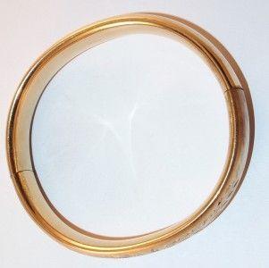 Vtg Signed WEH 14k Gold Filled Hinged Bangle Bracelet