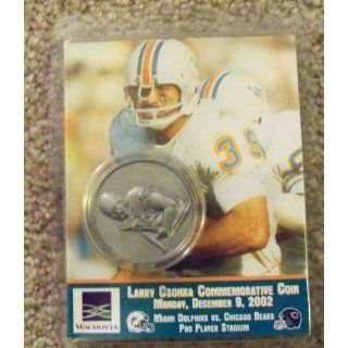 MIAMI DOLPHINS 39 LARRY CSONKA COMMEMORATIVE COIN NEW