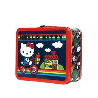 Loungefly Hello Kitty Bike with Rainbow Lunch Tin Box