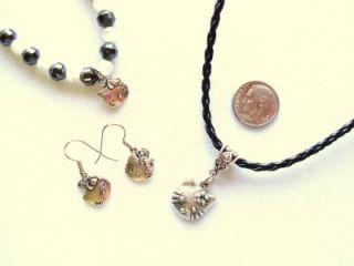 New Hello Kitty Jewelry Set 1 Silver Earrings Bracelet Pendant