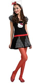 Hello Kitty Teen Girls Costume Dress 2 6 NIP