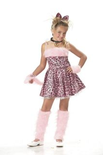 Cute Pink Purrty Kitty Sassy Leopard Cat Child Costume