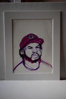 Art Marker Pen Portrait Drawing Unframed Lowbrow Street Hip Hop