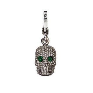 Juicy Couture   Pave CZ Crystal Rhinestone Skull / Day of the Dead