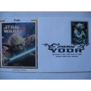 2007 U.S. $.41 Star Wars YODA Stamp on Envelope   First