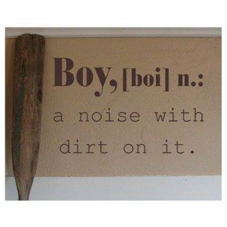 Boy Definition Wall Decal Size 28 H, Color of Graphic