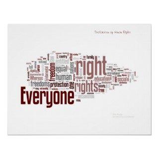 Derechos humanos posters de