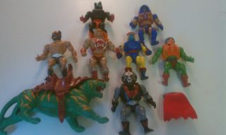 He Man MOTU Action Figure Lot Vintage 1980s Figures