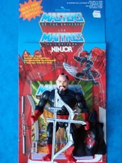 RARE He Man Figure Ninjor 100 Complete Card Comic Vintage MOTU Toy