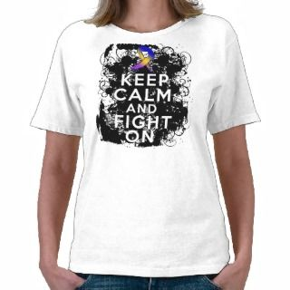 Bladder Cancer Keep Calm and Fight On Tee Shirts
